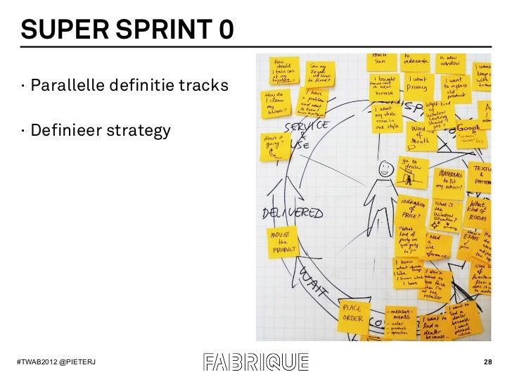 SUPER SPRINT 0· Parallelle definitie tracks· Definieer strategy#TWAB2012 @PIETERJ               28