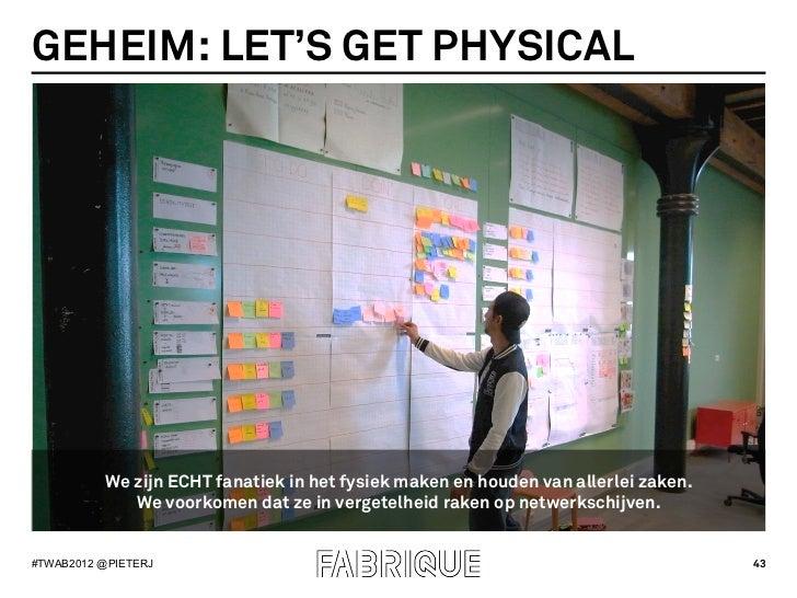 GEHEIM: LET'S GET PHYSICAL          We zijn ECHT fanatiek in het fysiek maken en houden van allerlei zaken.             We...