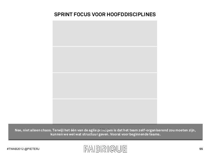 SPRINT FOCUS VOOR HOOFDDISCIPLINES                                                          time >    Nee, niet alleen cha...