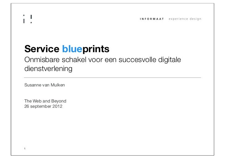Service blueprintsOnmisbare schakel voor een succesvolle digitaledienstverleningSusanne van MulkenThe Web and Beyond26 sep...