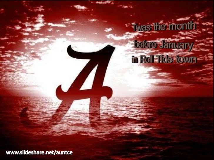 Twas the Month Before January (Alabama Crimson Tide Vs. LSU)