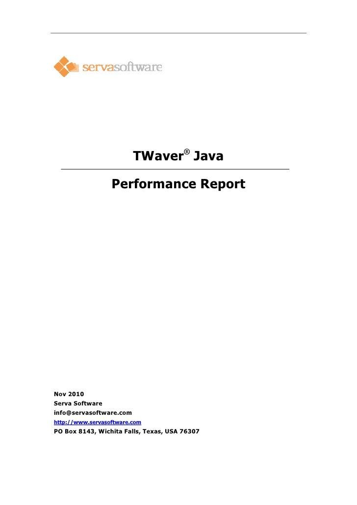 TWaver Java Performance Report
