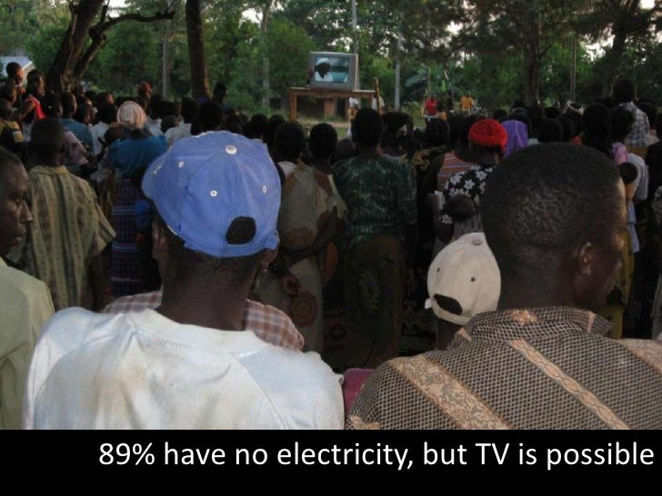 89% have no electricity, but TV is possible<br />