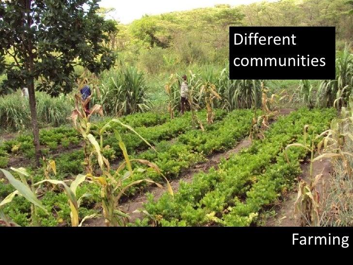 Different communities<br />Farming<br />