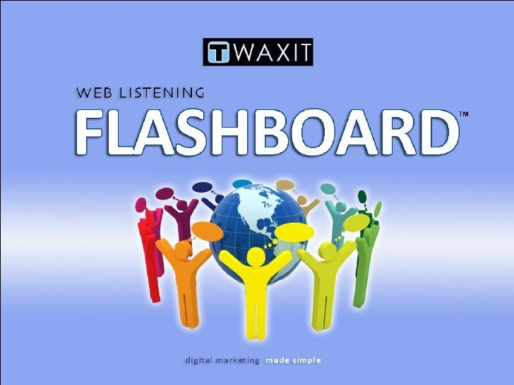 Flashboard Demo Slide 1