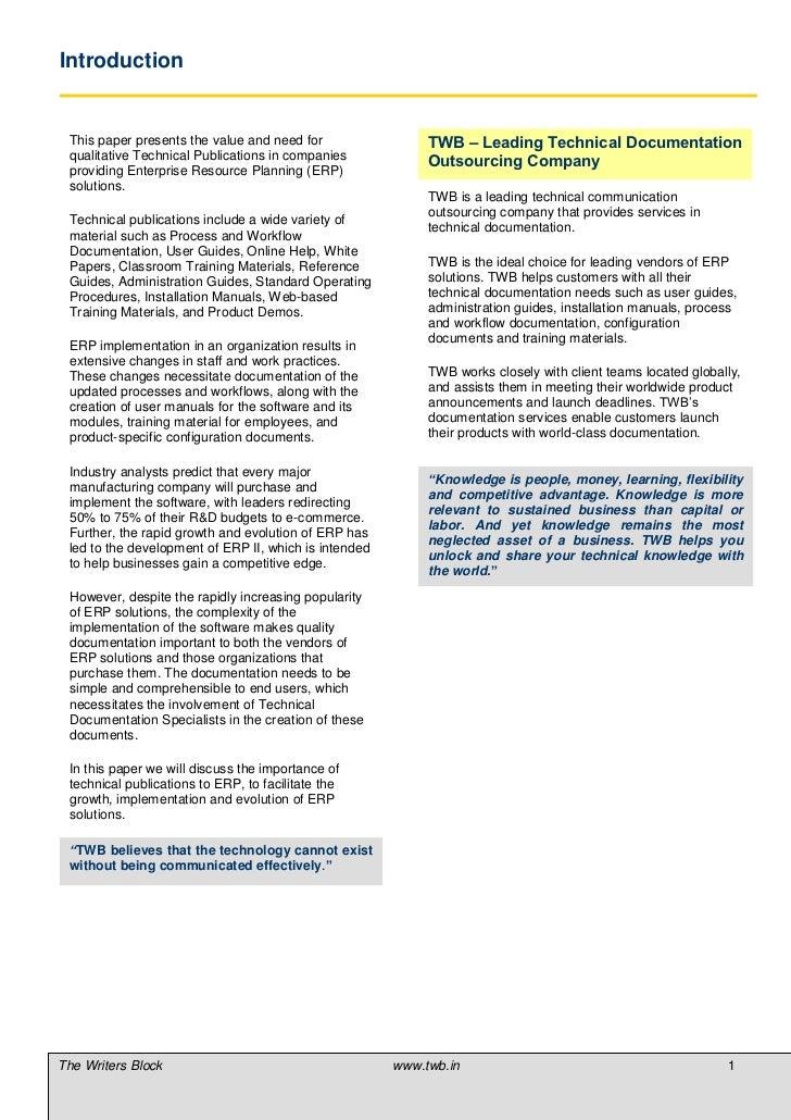 Essay on enterprise resource planning