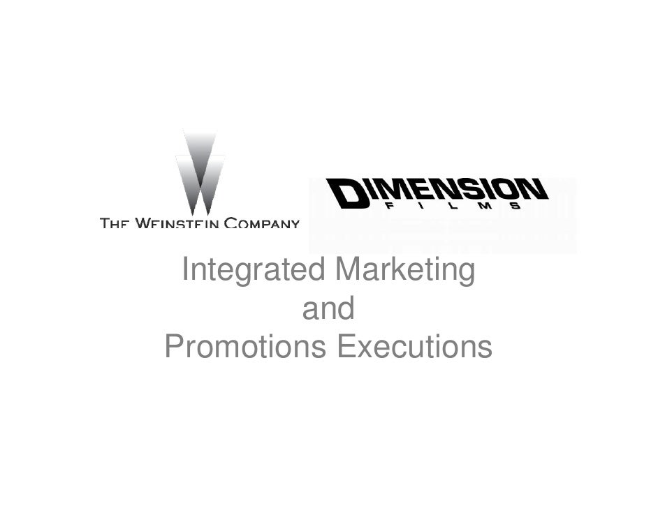Integrated Marketing          andPromotions Executions