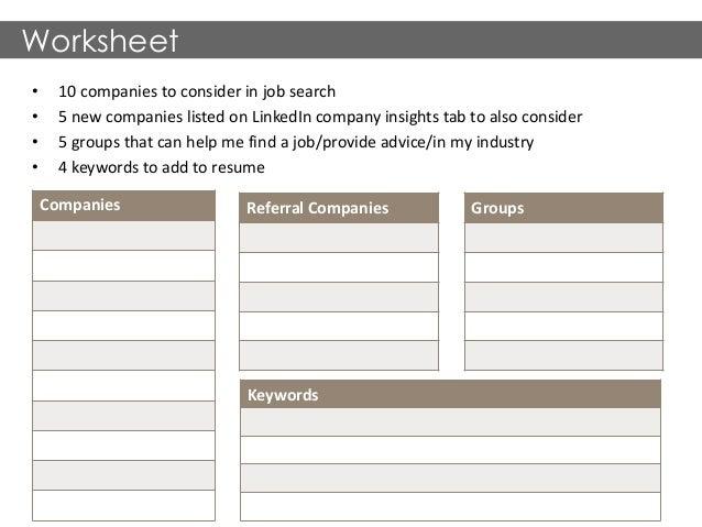 Job Search Worksheet Sharebrowse – Job Search Worksheet