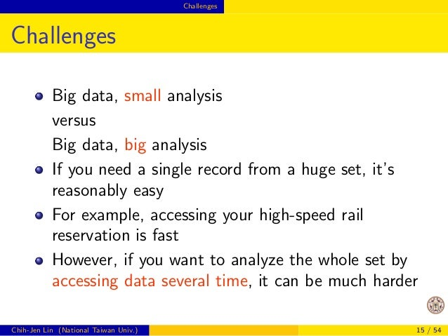 Challenges  Possible Disadvantages of Distributed  Data Analytics  More complicated (of course)  Communication and synchro...