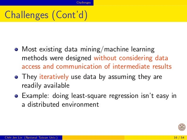 Challenges  Going Distributed or Not Isn't Easy to  Decide  Quote from Yann LeCun (KDnuggets News 14:n05)  I have seen peo...