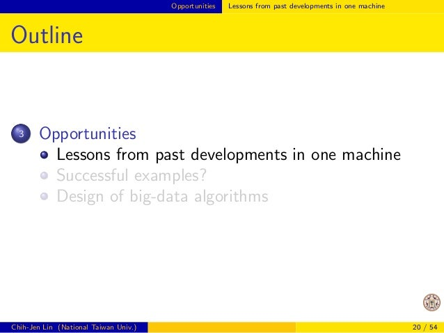 Challenges  Challenges (Cont'd)  Most existing data mining/machine learning  methods were designed without considering dat...