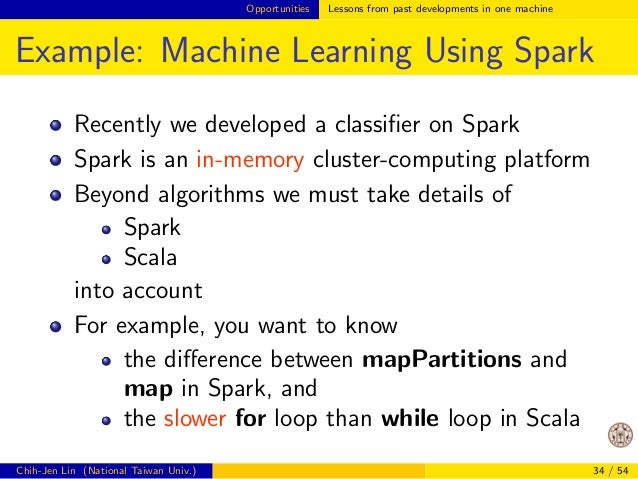 Opportunities Lessons from past developments in one machine  Example: Matrix-matrix Product (Cont'd)  CPU  #  Registers  #...