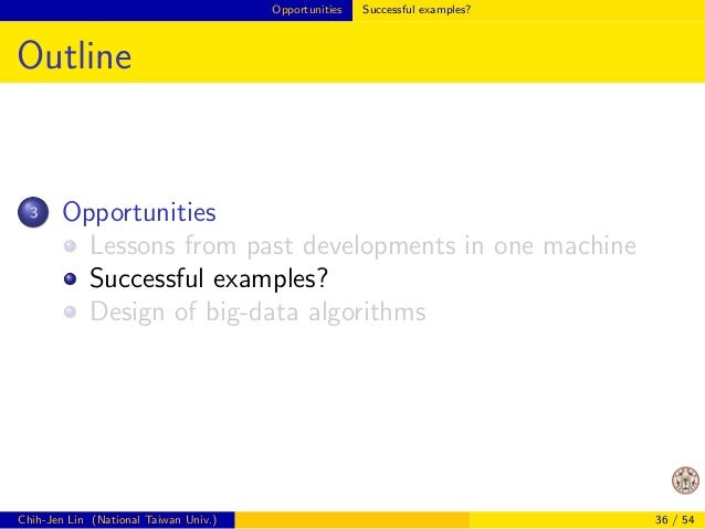 Opportunities Lessons from past developments in one machine  Example: Matrix-matrix Product (Cont'd)  I like this example ...