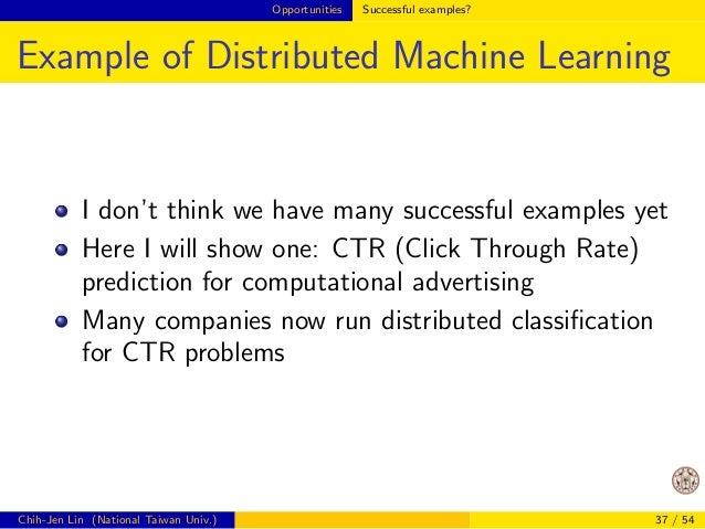Opportunities Lessons from past developments in one machine  Example: Matrix-matrix Product (Cont'd)  For big-data analyti...