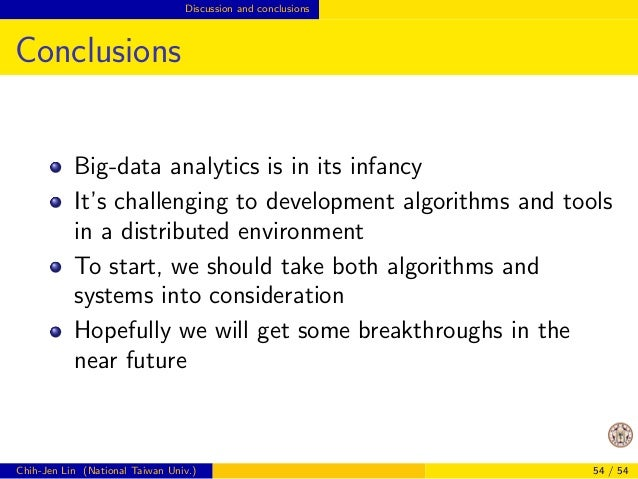Opportunities Design of big-data algorithms  How to Get Started?  In my opinion, we should start from applications  Applic...