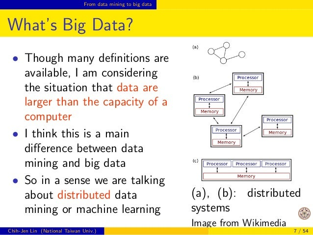 cation, clustering, and regression  We also have good integrated tools for data mining  (e.g., Weka, R, Scikit-learn)  How...