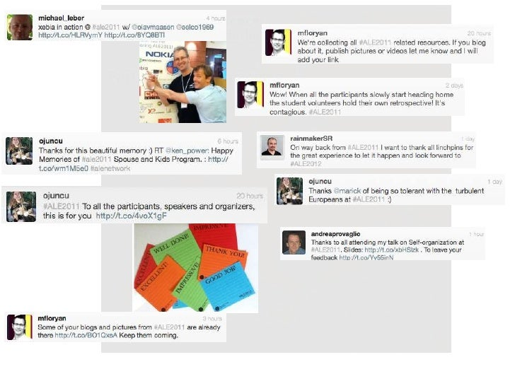 #ALE2011 Tweet collage