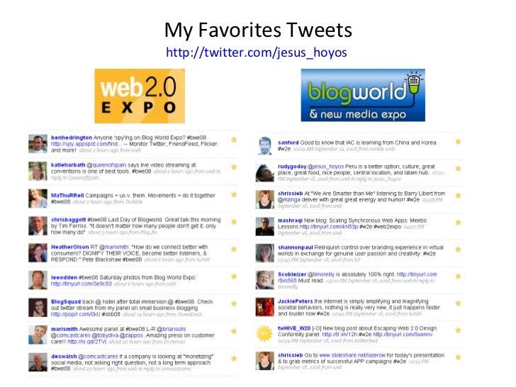My Favorites Tweets http://twitter.com/jesus_hoyos