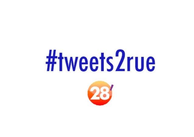 Les #Tweets2rue postés sur les réseaux sociaux