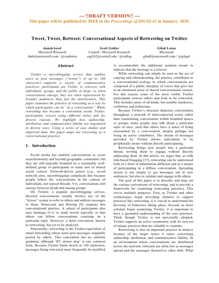 --- !!DRAFT VERSION!! ---   This paper will be published by IEEE in the Proceedings of HICSS-43 in January, 2010.        T...