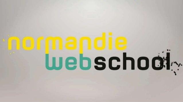 Tweetwall journée portes ouvertes Normandie Web School.