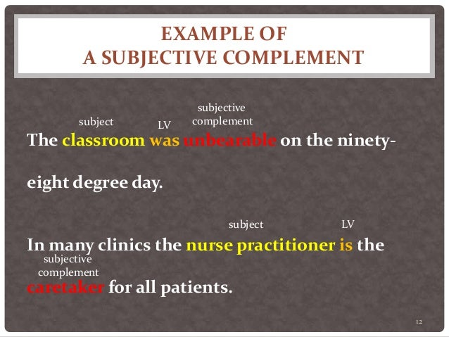 how to use subjective in a sentence
