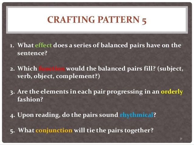 Twenty Sentence Patterns A Brief Description Of Patterns 1 Through 1