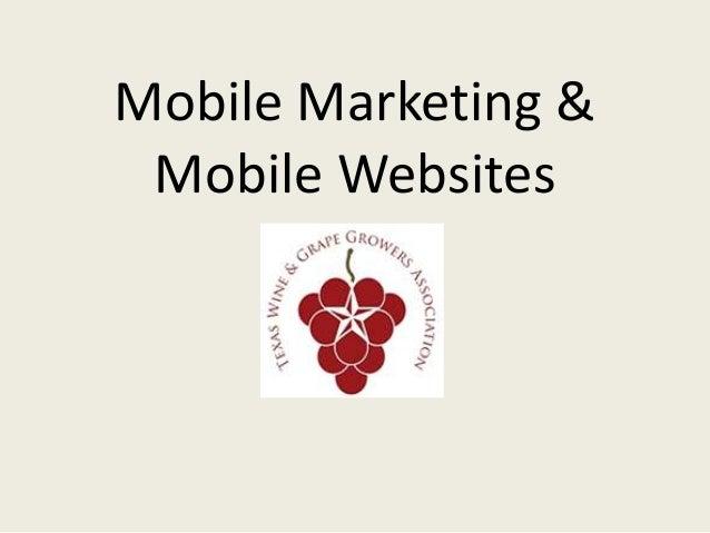 Mobile Marketing & Mobile Websites