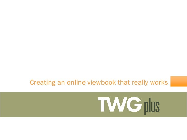 Creating an online viewbook that really works