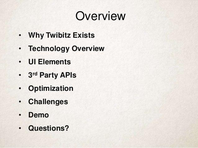 Twibitz Profile Reports Technical Overview Slide 2