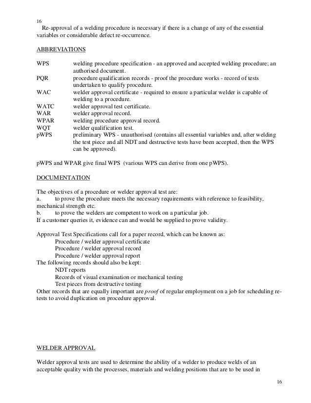 twi cswip welding inspection notes and questions rh slideshare net Overhead Welding Pipeline Welding Inspector Jobs