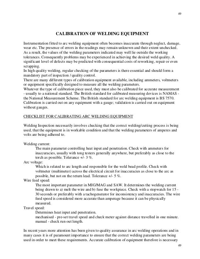 Twi cswip welding inspection notes and questions 49 49 49 calibration of welding yadclub Image collections