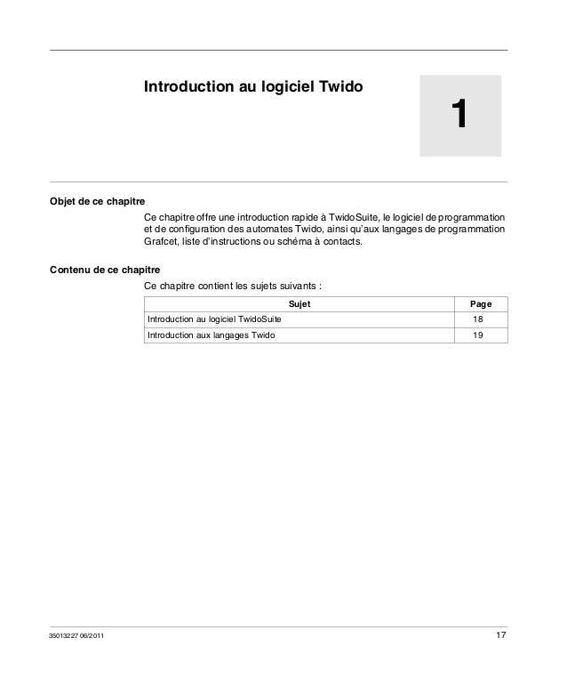 PROGRAMMATION TWIDO TÉLÉCHARGER LOGICIEL DE