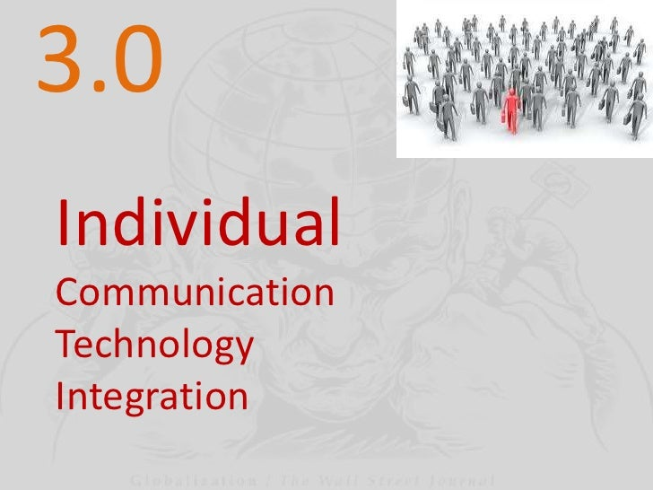 3.0<br />Individual<br />Communication<br />Technology<br />Integration<br />
