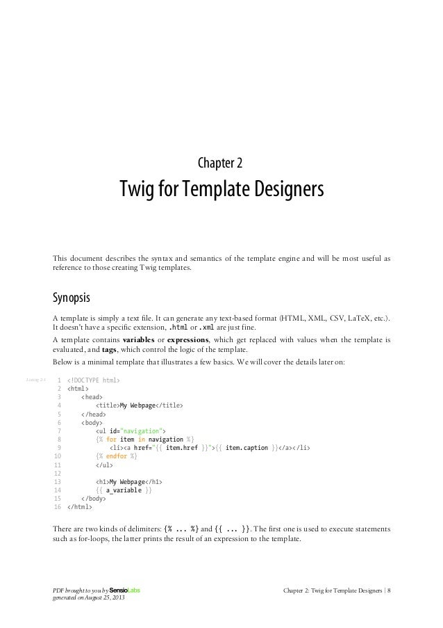 Twig for Twig template variables