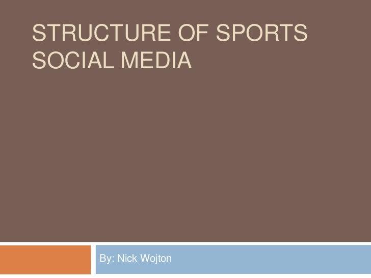 STRUCTURE OF SPORTSSOCIAL MEDIA    By: Nick Wojton