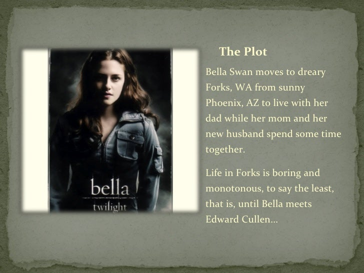 twilight book report plot A series of 4 books by stephenie meyer, with additional stories set in this world in 2016, life and death was published as a standalone see also the graphic novel adaptation: twilight: the graphic novel.
