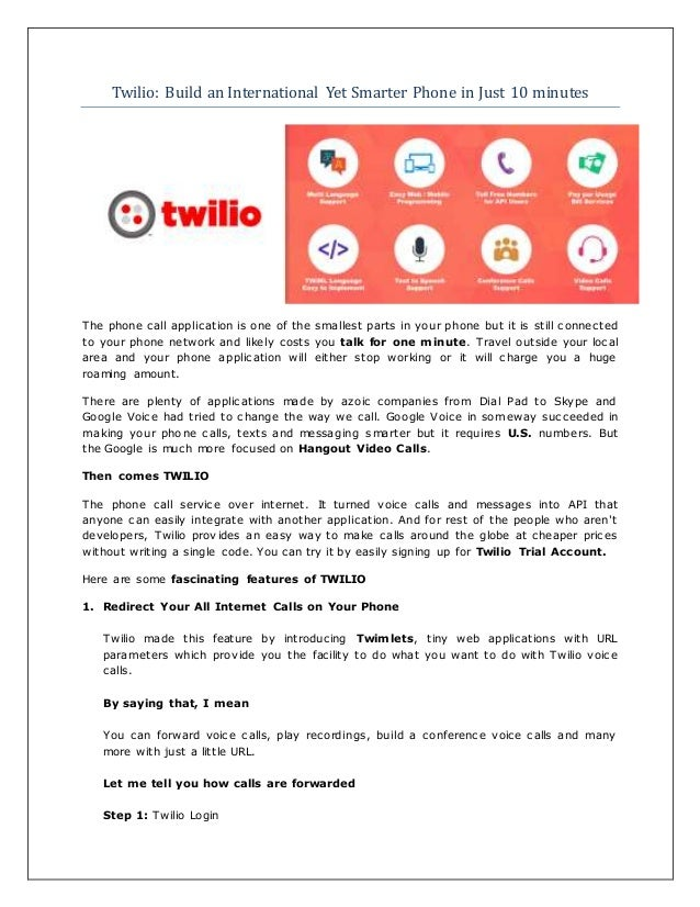 Twilio build a smarter international phone in just 10 minutes