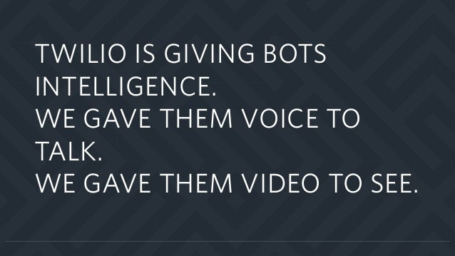 Twilio Signal 2016 Bots