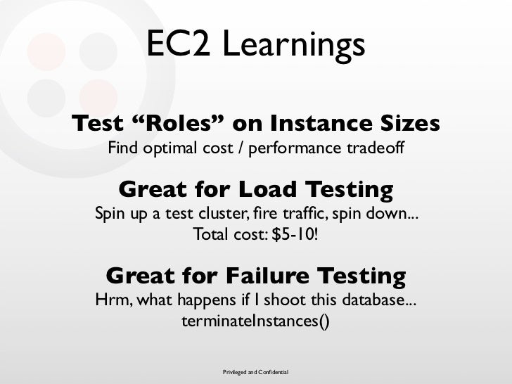 """EC2 Learnings Test """"Roles"""" on Instance Sizes   Find optimal cost / performance tradeoff      Great for Load Testing  Spin ..."""