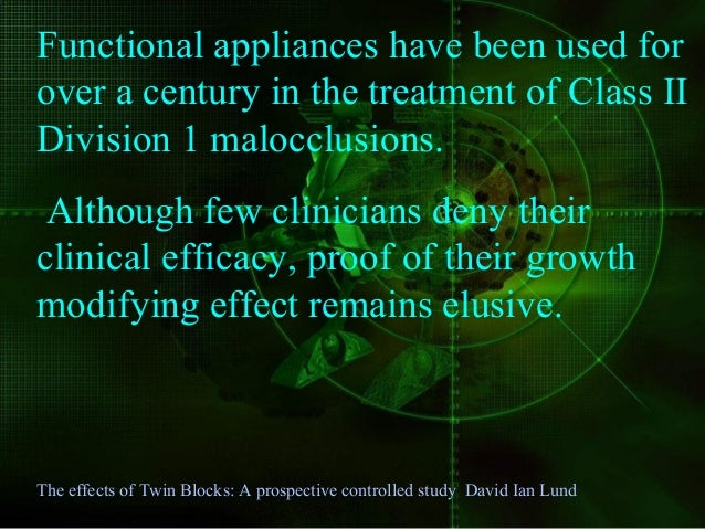 Little scientific evidence exists as to the effect of functional appliances appliance on growth of the jaws in humans The ...