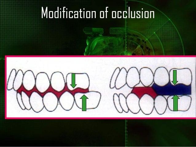 Modification of occlusion