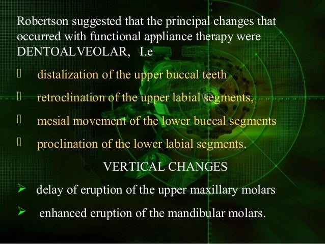 (5) horizontal expression of mandibular growth from downward and forward to horizontal. (6) changes in neuromuscular anato...