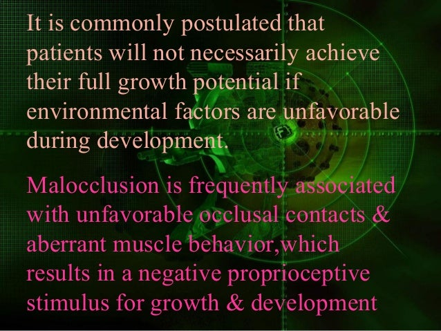 It is commonly postulated that patients will not necessarily achieve their full growth potential if environmental factors ...