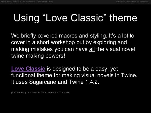 Workshop: Make Visual Novels & Text Adventure Games with Twine