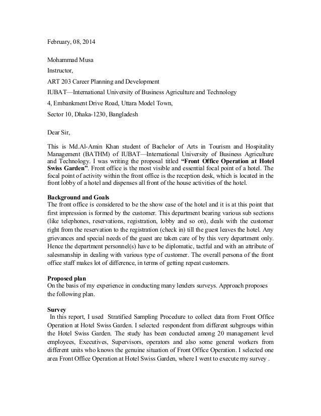 informal proposal examples
