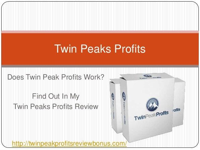 Twin Peaks ProfitsDoes Twin Peak Profits Work?      Find Out In My Twin Peaks Profits Review http://twinpeakprofitsreviewb...
