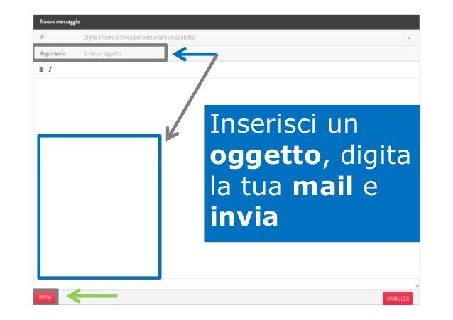 Inserisci un oggetto, digitaoggetto, digita la tua mail e invia