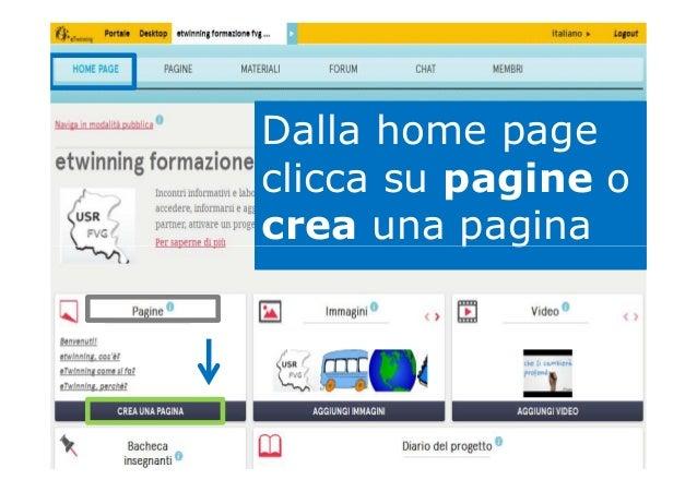 Dalla home page clicca su pagine o crea una paginacrea una pagina