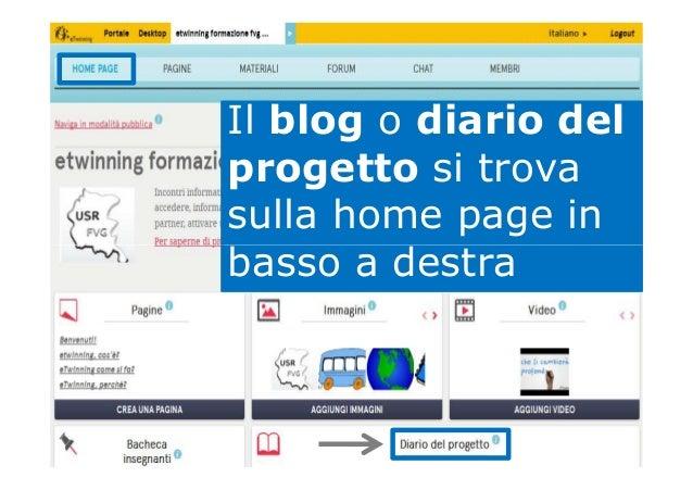 Il blog o diario del progetto si trova sulla home page in basso a destrabasso a destra